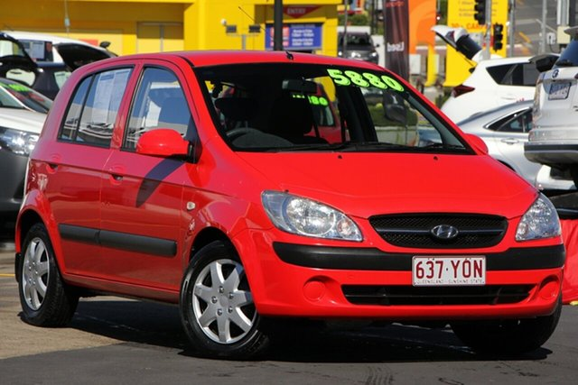 Used Hyundai Getz TB MY09 S, 2010 Hyundai Getz TB MY09 S Red 5 Speed Manual Hatchback