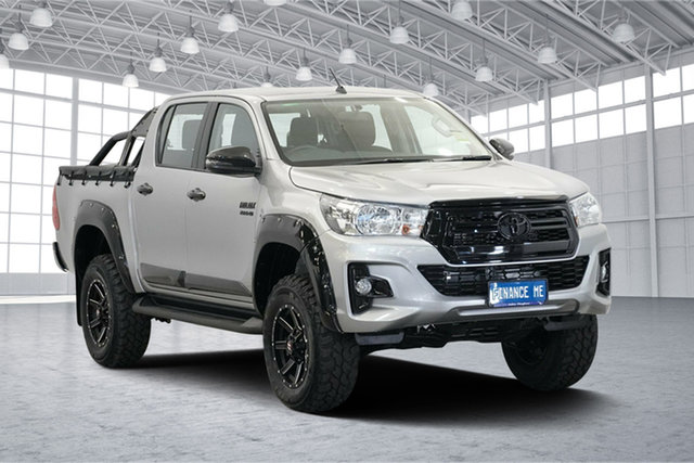 Used Toyota Hilux GUN126R SR Double Cab, 2019 Toyota Hilux GUN126R SR Double Cab Silver 6 Speed Sports Automatic Cab Chassis