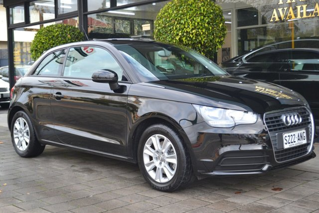 Used Audi A1 8X MY11 Ambition S Tronic, 2011 Audi A1 8X MY11 Ambition S Tronic Black 7 Speed Sports Automatic Dual Clutch Hatchback