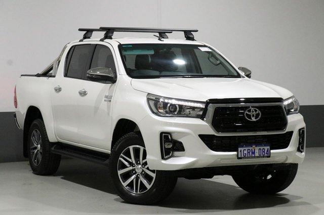 Used Toyota Hilux GUN126R MY19 SR5 (4x4), 2018 Toyota Hilux GUN126R MY19 SR5 (4x4) Crystal Pearl 6 Speed Automatic Double Cab Pickup