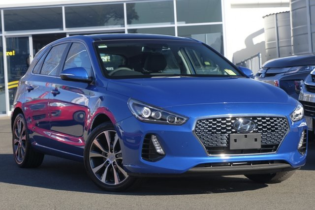 Used Hyundai i30 PD2 MY18 Elite, 2018 Hyundai i30 PD2 MY18 Elite Blue 6 Speed Sports Automatic Hatchback