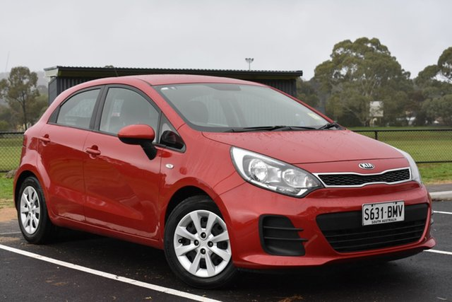 Used Kia Rio UB MY16 S, 2016 Kia Rio UB MY16 S Red 4 Speed Sports Automatic Hatchback