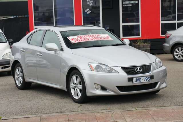 Used Lexus IS250 GSE20R Sports Luxury, 2007 Lexus IS250 GSE20R Sports Luxury Silver 6 Speed Sports Automatic Sedan