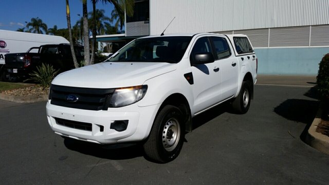 Used Ford Ranger PX XL Double Cab 4x2 Hi-Rider, 2013 Ford Ranger PX XL Double Cab 4x2 Hi-Rider White 6 Speed Sports Automatic Utility