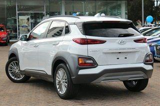 2020 Hyundai Kona OS.3 MY20 Elite (AWD) Chalk White 7 Speed Auto Dual Clutch Wagon.