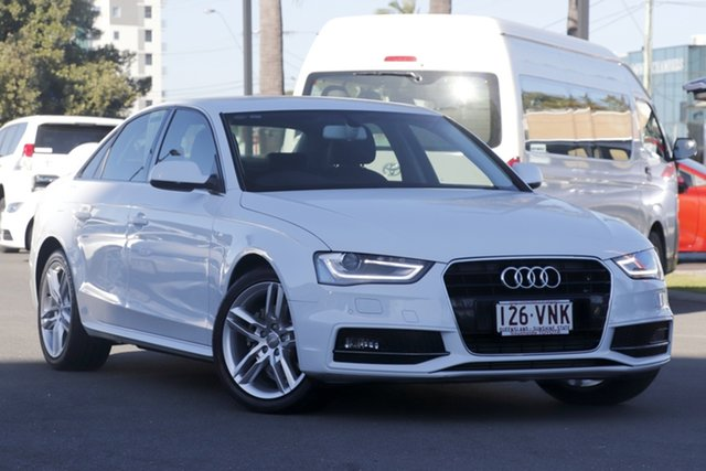 Used Audi A4 B8 8K MY15 S Line Multitronic, 2014 Audi A4 B8 8K MY15 S Line Multitronic White 8 Speed Constant Variable Sedan