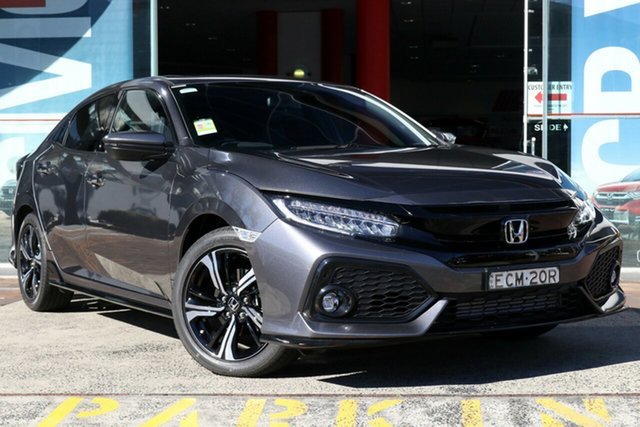 Demo Honda Civic 10th Gen MY18 RS, 2018 Honda Civic 10th Gen MY18 RS Modern Steel 1 Speed Constant Variable Hatchback