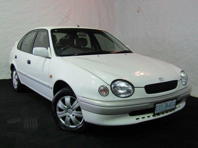 Used Toyota Corolla AE101R CSi Seca, 1999 Toyota Corolla AE101R CSi Seca White 5 Speed Manual Liftback