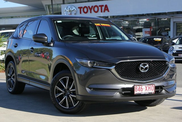 Used Mazda CX-5 KF4W2A Touring SKYACTIV-Drive i-ACTIV AWD, 2017 Mazda CX-5 KF4W2A Touring SKYACTIV-Drive i-ACTIV AWD Dark Grey 6 Speed Sports Automatic Wagon
