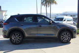 2017 Mazda CX-5 KF4W2A Touring SKYACTIV-Drive i-ACTIV AWD Dark Grey 6 Speed Sports Automatic Wagon.