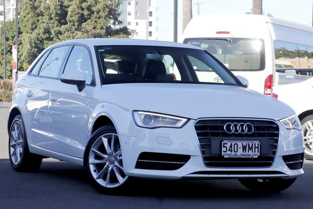 Used Audi A3 8V MY16 Attraction Sportback S Tronic, 2015 Audi A3 8V MY16 Attraction Sportback S Tronic Ibis White 7 Speed Sports Automatic Dual Clutch