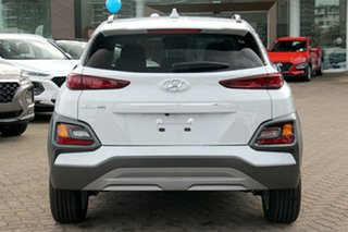 2020 Hyundai Kona OS.3 MY20 Elite D-CT AWD Chalk White 7 Speed Sports Automatic Dual Clutch Wagon