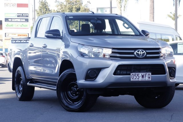Used Toyota Hilux GUN126R SR Double Cab, 2015 Toyota Hilux GUN126R SR Double Cab Silver 6 Speed Manual Utility