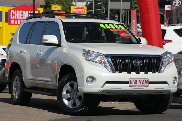 Used Toyota Landcruiser Prado KDJ150R MY14 Altitude, 2014 Toyota Landcruiser Prado KDJ150R MY14 Altitude White 5 Speed Sports Automatic Wagon