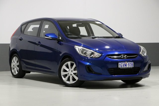 Used Hyundai Accent RB5 Sport, 2017 Hyundai Accent RB5 Sport Blue 6 Speed Automatic Hatchback
