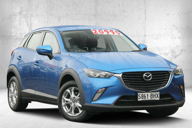 Used Mazda CX-3 DK2W7A Maxx SKYACTIV-Drive, 2015 Mazda CX-3 DK2W7A Maxx SKYACTIV-Drive Dynamic Blue 6 Speed Sports Automatic Wagon