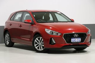 2017 Hyundai i30 PD Active Red 6 Speed Auto Sequential Hatchback.
