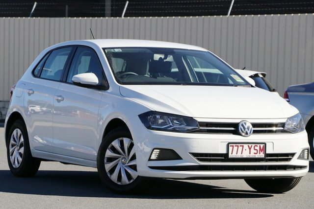 Demo Volkswagen Polo AW MY19 70TSI DSG Trendline, 2018 Volkswagen Polo AW MY19 70TSI DSG Trendline Pure White 7 Speed Sports Automatic Dual Clutch