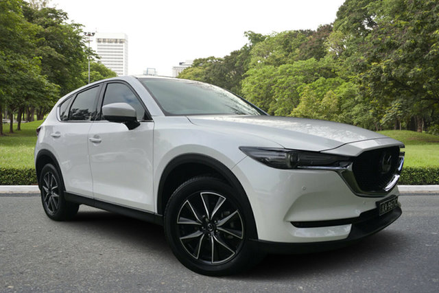 Used Mazda CX-5 KF4WLA Akera SKYACTIV-Drive i-ACTIV AWD, 2018 Mazda CX-5 KF4WLA Akera SKYACTIV-Drive i-ACTIV AWD White 6 Speed Sports Automatic Wagon