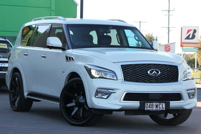 Used Infiniti QX80 Z62 S Premium, 2015 Infiniti QX80 Z62 S Premium White 7 Speed Sports Automatic Wagon