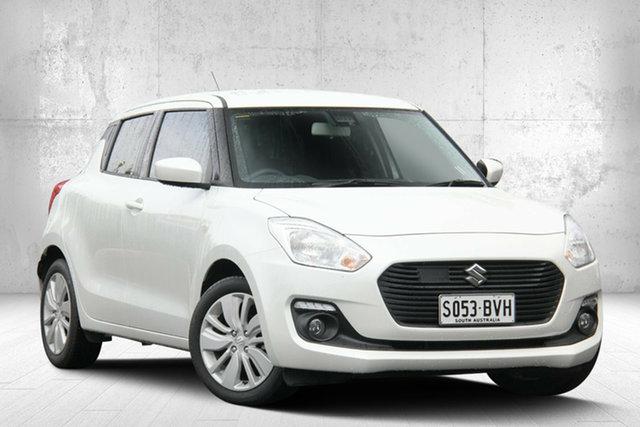 Used Suzuki Swift AZ GL Navigator Safety Pack, 2018 Suzuki Swift AZ GL Navigator Safety Pack Pure White 1 Speed Constant Variable Hatchback