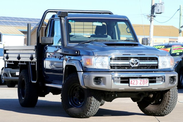 Used Toyota Landcruiser VDJ79R GXL, 2016 Toyota Landcruiser VDJ79R GXL Blue 5 Speed Manual Cab Chassis