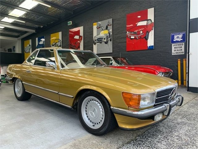 Used Mercedes-Benz 350SL R107 , 1973 Mercedes-Benz 350SL R107 Icon Gold Automatic Roadster