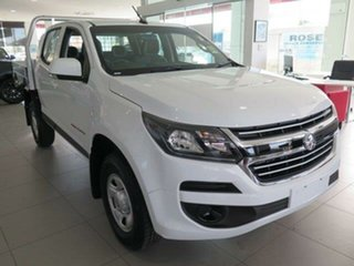 2018 Holden Colorado RG MY19 LS (4x4) Summit White 6 Speed Automatic Crew Cab Chassis.