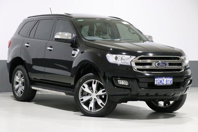 Used Ford Everest UA MY18 Titanium (4WD) (5 Yr), 2018 Ford Everest UA MY18 Titanium (4WD) (5 Yr) Black 6 Speed Automatic Wagon