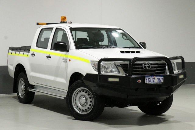 Used Toyota Hilux KUN26R MY14 SR (4x4), 2014 Toyota Hilux KUN26R MY14 SR (4x4) White 5 Speed Manual Dual Cab Pick-up