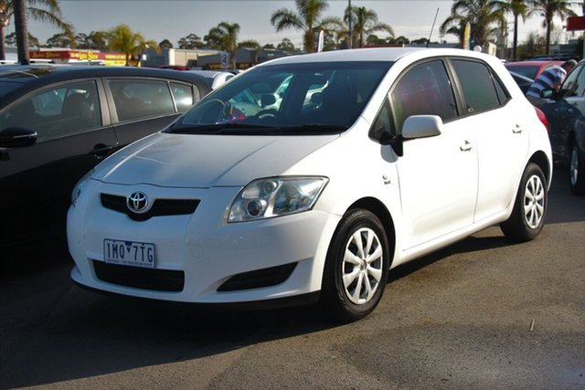Used Toyota Corolla ZRE152R Ascent, 2007 Toyota Corolla ZRE152R Ascent White 6 Speed Manual Hatchback