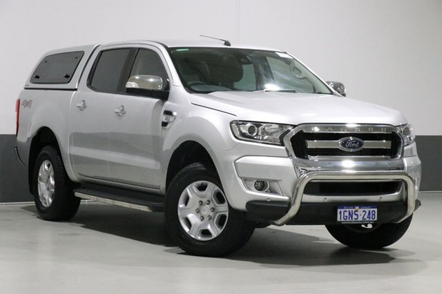 Used Ford Ranger PX MkII MY18 XLT 3.2 (4x4), 2018 Ford Ranger PX MkII MY18 XLT 3.2 (4x4) Silver 6 Speed Automatic Dual Cab Utility
