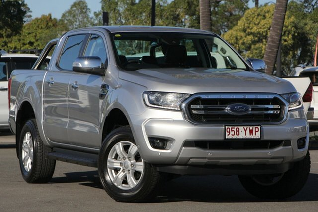 Used Ford Ranger PX MkIII 2019.00MY XLT Pick-up Super Cab, 2018 Ford Ranger PX MkIII 2019.00MY XLT Pick-up Super Cab Silver 10 Speed Sports Automatic Utility