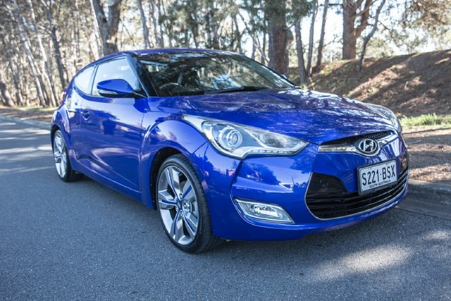 Used Hyundai Veloster FS2 + Coupe, 2013 Hyundai Veloster FS2 + Coupe Blue 6 Speed Manual Hatchback