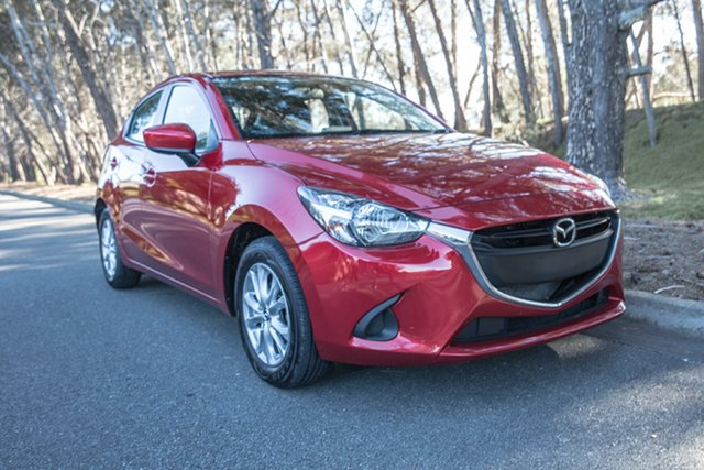 Used Mazda 2 DJ2HAA Maxx SKYACTIV-Drive, 2016 Mazda 2 DJ2HAA Maxx SKYACTIV-Drive Red/Black 6 Speed Sports Automatic Hatchback