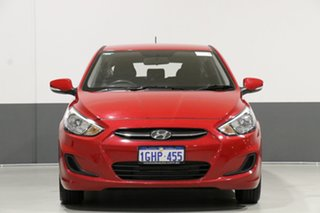 2017 Hyundai Accent RB4 MY17 Active Red 6 Speed Manual Hatchback.