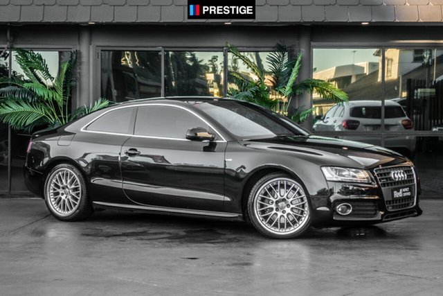 Used Audi A5 8T MY11 S Tronic Quattro, 2010 Audi A5 8T MY11 S Tronic Quattro Black 7 Speed Sports Automatic Dual Clutch Coupe