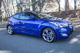 2013 Hyundai Veloster FS2 + Coupe Blue 6 Speed Manual Hatchback.
