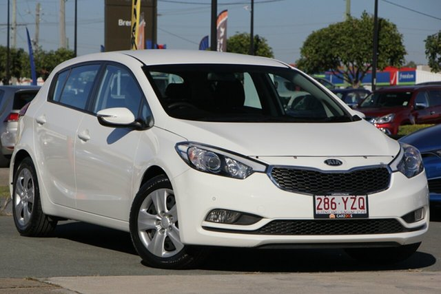 Used Kia Cerato YD MY15 S, 2015 Kia Cerato YD MY15 S White 6 Speed Sports Automatic Hatchback