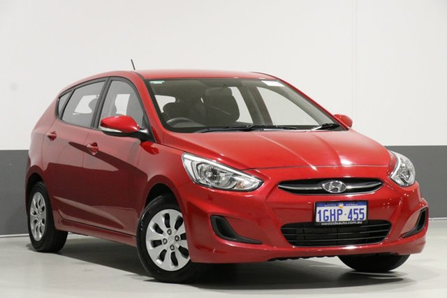 Used Hyundai Accent RB4 MY17 Active, 2017 Hyundai Accent RB4 MY17 Active Red 6 Speed Manual Sedan