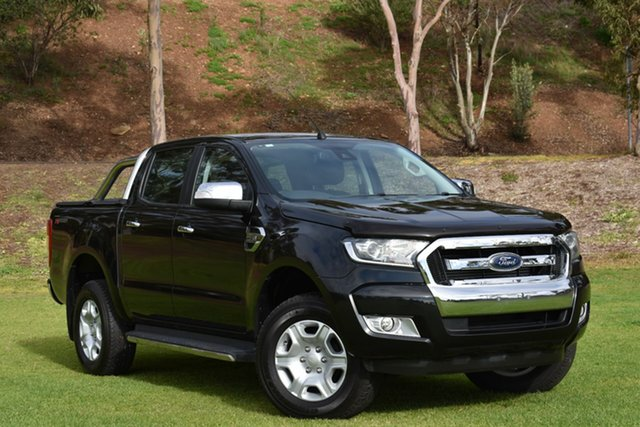 Used Ford Ranger PX MkII XLT Double Cab 4x2 Hi-Rider, 2016 Ford Ranger PX MkII XLT Double Cab 4x2 Hi-Rider Black 6 Speed Sports Automatic Utility