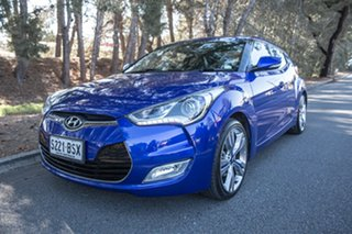 2013 Hyundai Veloster FS2 + Coupe Blue 6 Speed Manual Hatchback