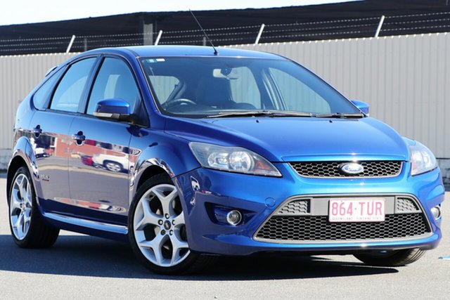 Used Ford Focus LV XR5 Turbo, 2009 Ford Focus LV XR5 Turbo Blue 6 Speed Manual Hatchback