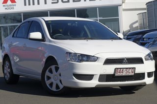 2011 Mitsubishi Lancer CJ MY12 ES White 6 Speed Constant Variable Sedan.