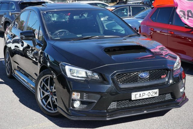 Used Subaru WRX V1 MY15 STI AWD Premium, 2014 Subaru WRX V1 MY15 STI AWD Premium Black 6 Speed Manual Sedan