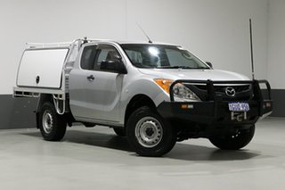 2012 Mazda BT-50 XT (4x4) Silver 6 Speed Manual Freestyle Cab Chassis.