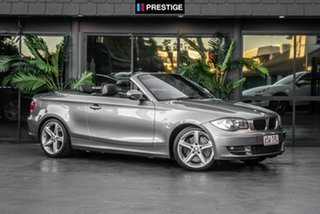 2011 BMW 123d E88 MY11 Steptronic Grey 6 Speed Sports Automatic Convertible.