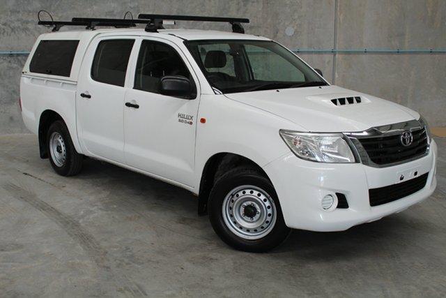 Used Toyota Hilux KUN16R MY14 SR Double Cab 4x2, 2015 Toyota Hilux KUN16R MY14 SR Double Cab 4x2 White 5 Speed Manual Utility