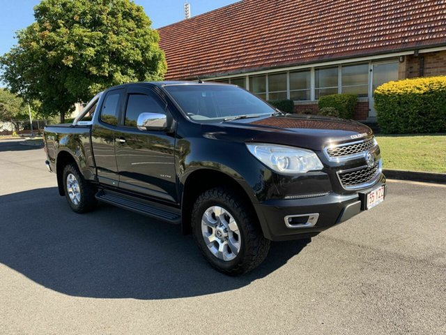 Used Holden Colorado RG LTZ, 2012 Holden Colorado RG LTZ Black 5 Speed Manual Spacecab