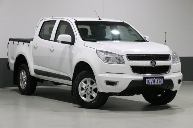 Used Holden Colorado RG MY15 LT (4x2), 2015 Holden Colorado RG MY15 LT (4x2) White 6 Speed Automatic Crew Cab Pickup